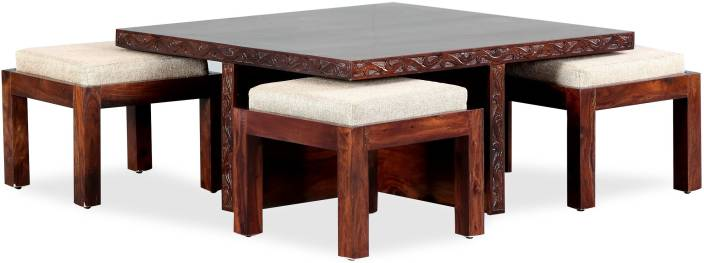 Coffee Table With Stools.Furnspace Blaise Coffee Table With Four Stools Solid Wood Coffee