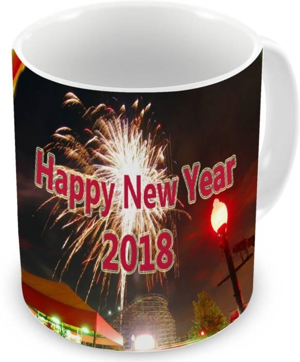 dd happy new year 2018 printed ceramic coffee gift for anniversarybirthday ceramic mug