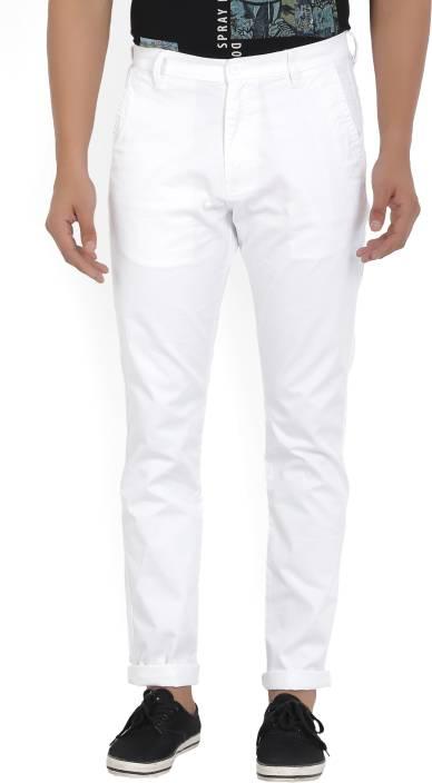 2187b848fa9 Highlander Slim Fit Men's White Trousers