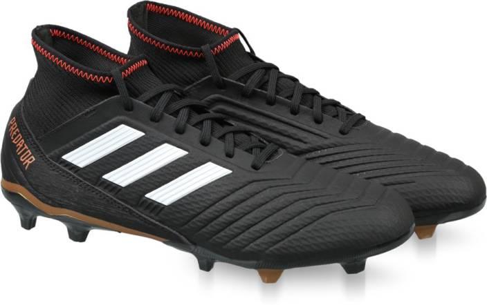 sports shoes d8cfa 2557b ADIDAS PREDATOR 18.3 FG Football Shoes For Men (Black)