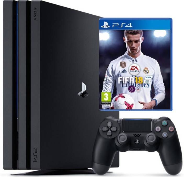 Sony Ps4 Pro Console One TB GB with Fifa 18