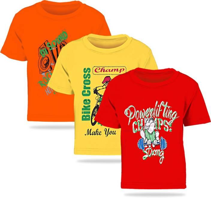 Kiddeo Boys Printed Cotton T Shirt
