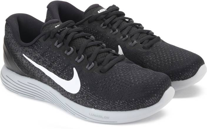 d8bc3df0d08 Nike LUNARGLIDE 9 Running Shoes For Men - Buy BLACK WHITE-DARK GREY ...
