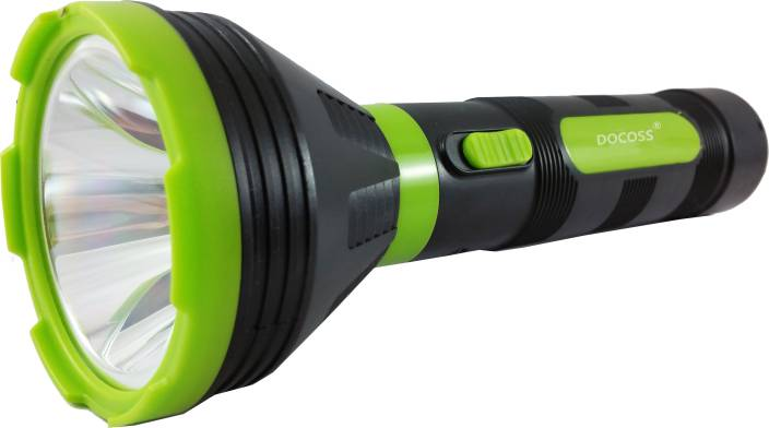 DOCOSS 415 Rechargeable Led Long Range & Ultra Bright 5w Laser Light Flashlight Torches