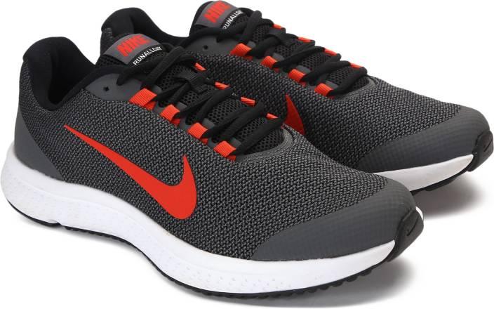 24a6af40dfc0c Nike RUNALLDAY Running Shoes For Men - Buy BLACK TRACK RED-DARK GREY ...