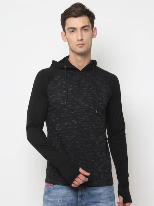 SayItLoud Solid Men's Round Neck Black T-Shirt