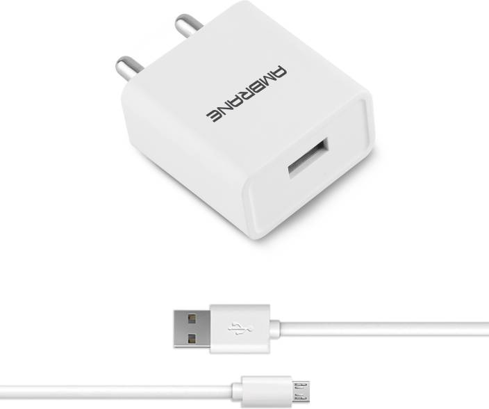 Ambrane AWC-11 2A Fast Charger with Charge & Sync USB Cable Mobile Charger