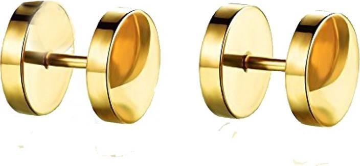 a5adb4156 Flipkart.com - Buy One Point Collections Men Earrings Salman Khan Style  Dumble Gold Stud Earring For Men Stud,Bali Earring Order Now !