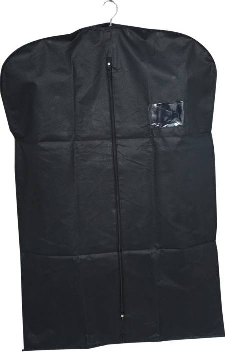 82f3ef083055 Kuber Industries Designer Men s Coat Blazer cover Foldover Breathable  Garment Bag Suit cover- Black SAREESCKU8927 (Black)
