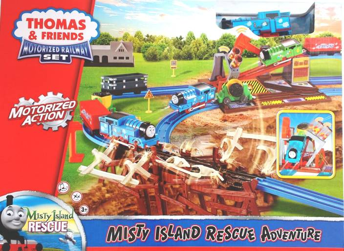 Jaibros Thomas and Friends Motorized Misty Island Railway Adventure Train Set (Multicolor)