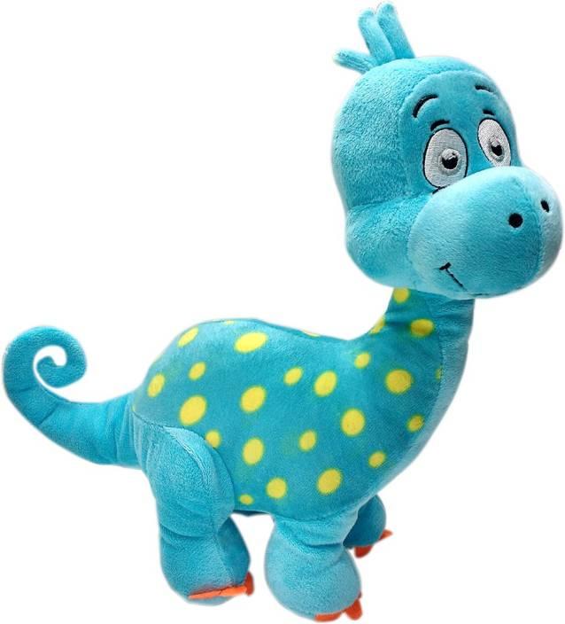 2df8c2c0cc1f My Baby Excels Baby Dinosaur Plush Blue Colour 28 cm - 28 cm (Multicolor)