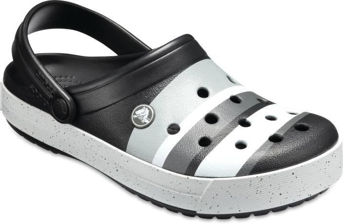 f089bfaa758d Crocs Men Black Light Grey Clogs - Buy Crocs Men Black Light Grey Clogs  Online at Best Price - Shop Online for Footwears in India