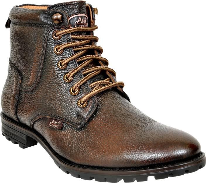 75ae1e72cfb0 Allen Cooper Boots For Men - Buy Brown Color Allen Cooper Boots For ...