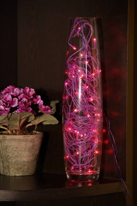 Home Delight 130 inch Purple Rice Lights