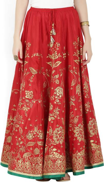 f0f3a7cbc Biba Printed Women's Flared Red Skirt - Buy RED Biba Printed Women's Flared  Red Skirt Online at Best Prices in India | Flipkart.com
