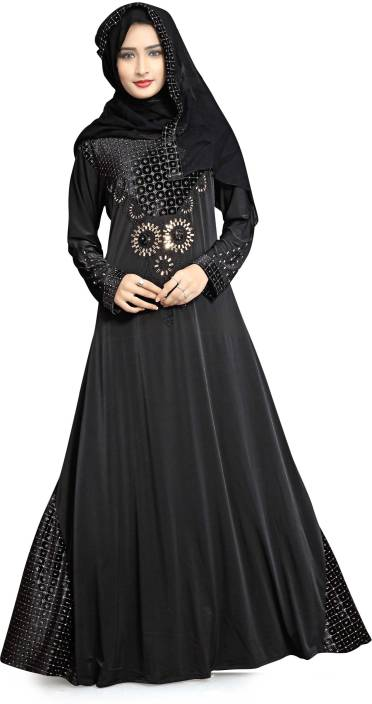 5300e972592c Justkartit JK4583 Lycra Self Design Burqa With Hijab Price in India ...
