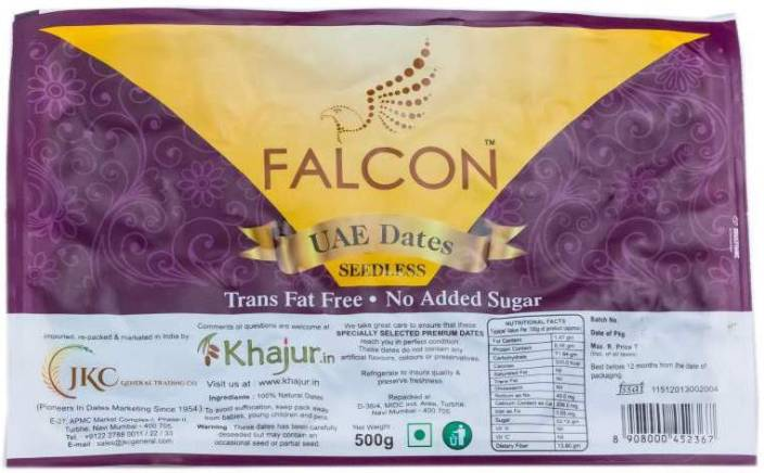 Falcon UAE Seedless Dates-500g Dates