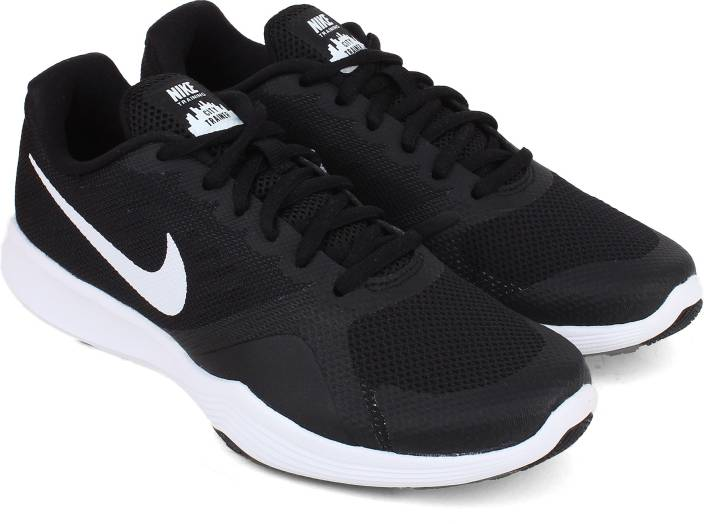 Nike Women's City Trainer Training Shoes 909013 001 Black White