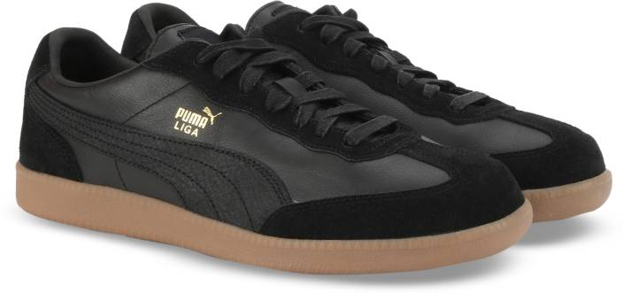 6bb61dfce4a2ba Puma Liga Leather Sneakers For Men - Buy Puma Black-Puma Black Color ...