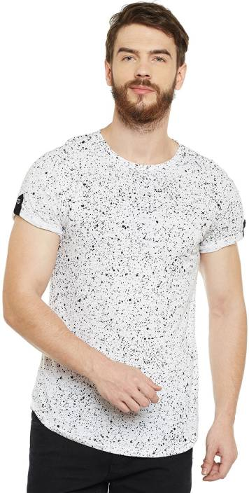 2275bd4d095f Le Bourgeois Printed Men Round Neck White T-Shirt - Buy Le Bourgeois ...