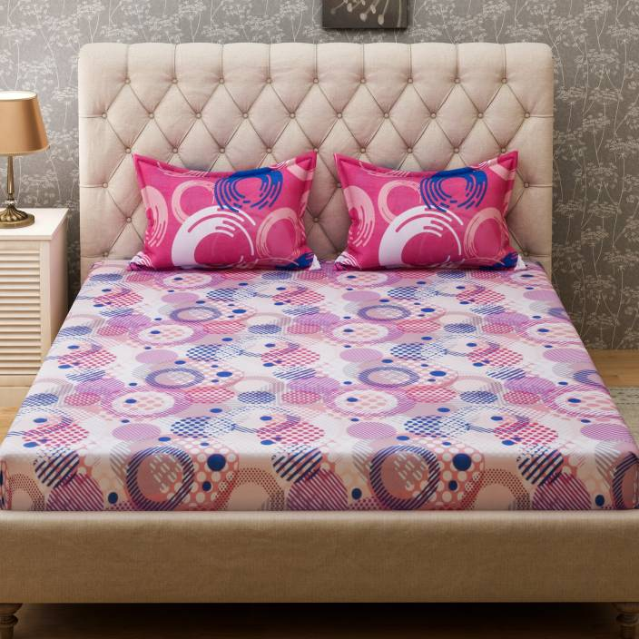 Bombay Dyeing Cotton Double King Abstract Bedsheet