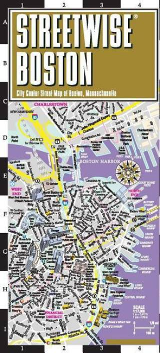 6b1b486a7afc Streetwise Boston Map - Laminated City Center Street Map of Boston ...