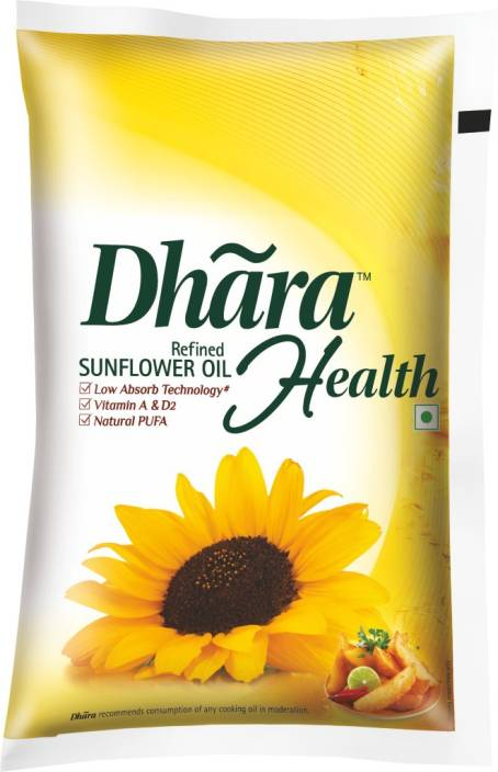 Dhara Refined Sunflower Oil 1 L Pouch