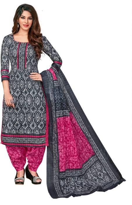 SuitsOn Cotton Polka Print Salwar Suit Dupatta Material