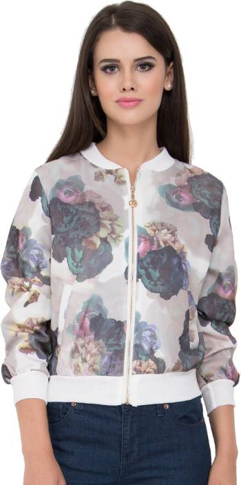 Go India Store Full Sleeve Floral Print Women Jacket