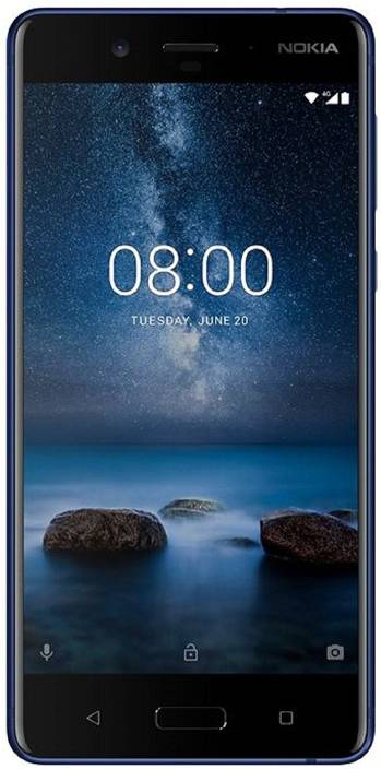 Nokia 8 (Polished Blue, 64 GB)