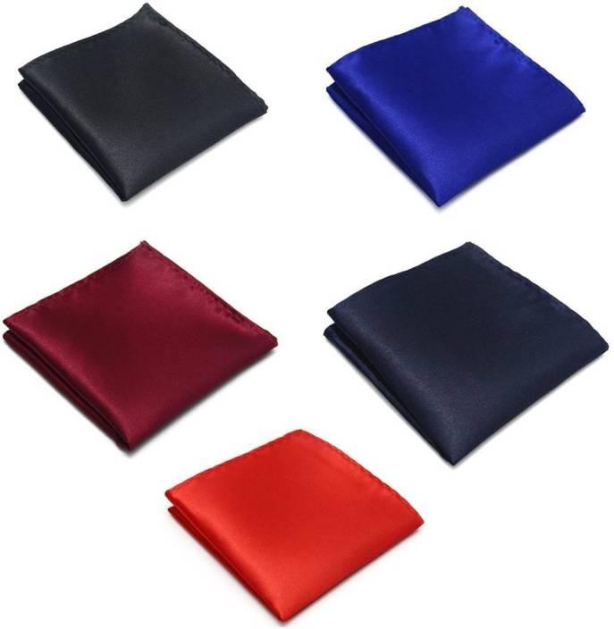 a47769e0eb5d8 Seerat Solid Satin Pocket Square Price in India - Buy Seerat Solid Satin  Pocket Square online at Flipkart.com