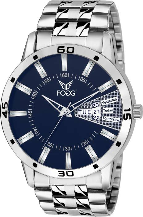 Fogg 2038-BL Day and Date Watch  - For Men