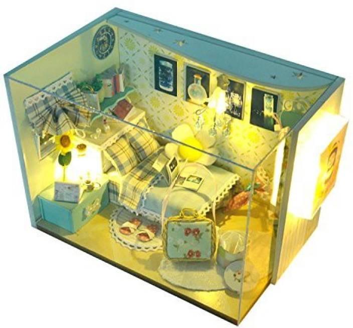 Cuteroom Dollhouse Miniature Diy House Room Kit With Music Wooden
