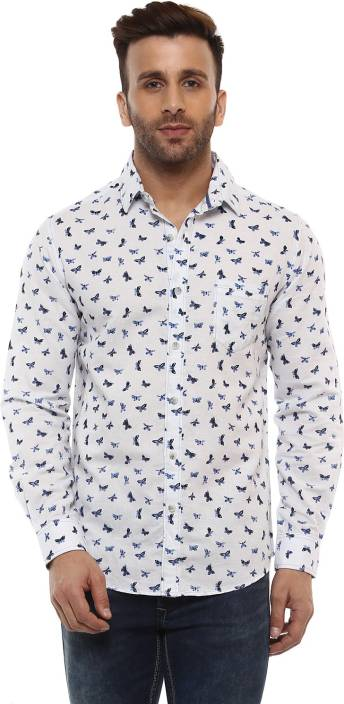 a87a4e6f8f Mufti Men Printed Casual White Shirt - Buy Mufti Men Printed Casual White  Shirt Online at Best Prices in India | Flipkart.com