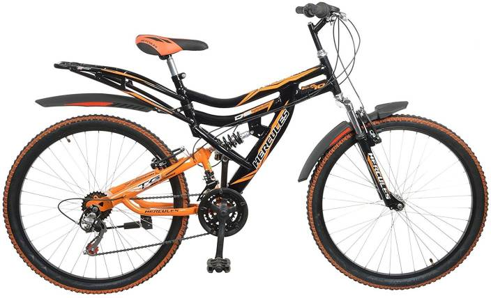 HERCULES Topgear CX70 Dual Suspension 18 Speed 26 T Mountain Cycle