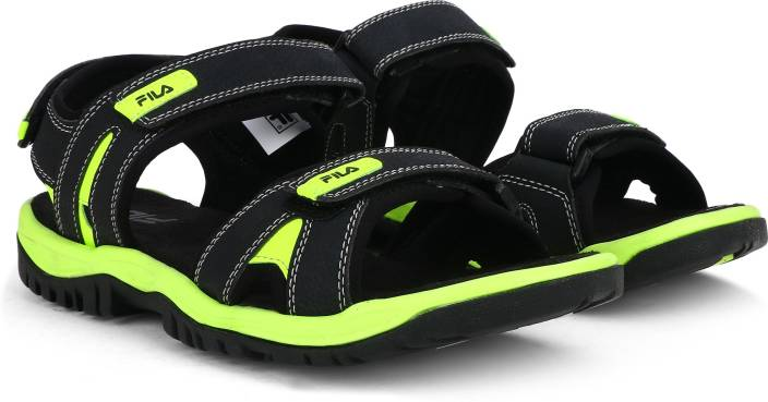 801275eaf264 Fila Men BLK LIM Sports Sandals - Buy BLK LIM Color Fila Men BLK LIM Sports  Sandals Online at Best Price - Shop Online for Footwears in India
