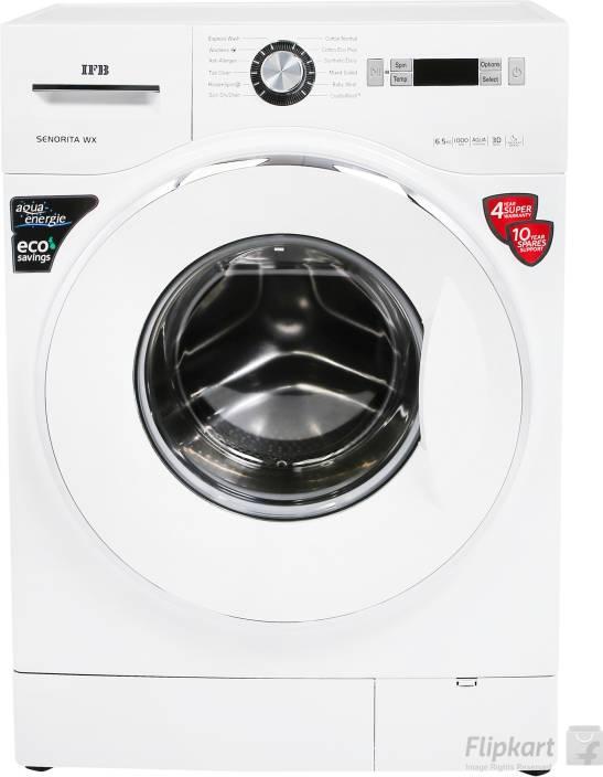 IFB 6.5 kg Fully Automatic Front Load Washing Machine White