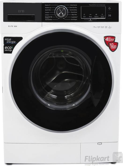 IFB 7.5 kg Fully Automatic Front Load Washing Machine White