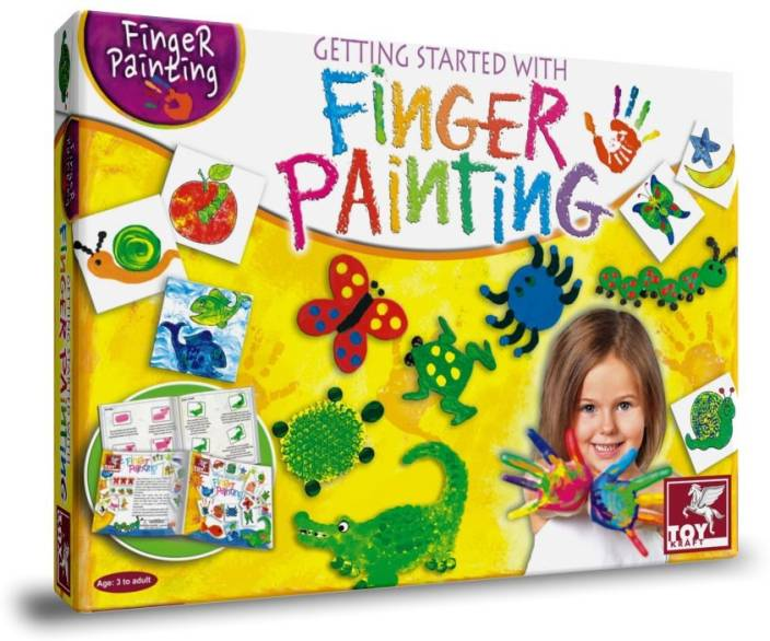 TOY KRAFT Getting Started with Finger Painting