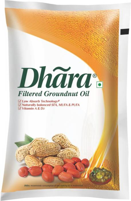 Dhara Filtered Groundnut Oil Pouch Price in India - Buy Dhara