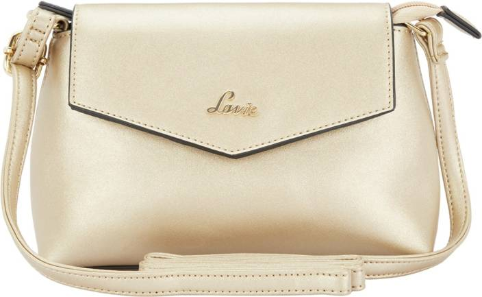 35ce1d03a Lavie Women Gold Polyester Sling Bag Gold - Price in India ...