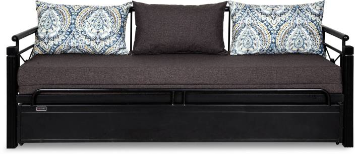 dd2d6b3337bd FurnitureKraft Venice Single Metal Sofa Bed (Finish Color - Black Mechanism  Type - Pull Out)