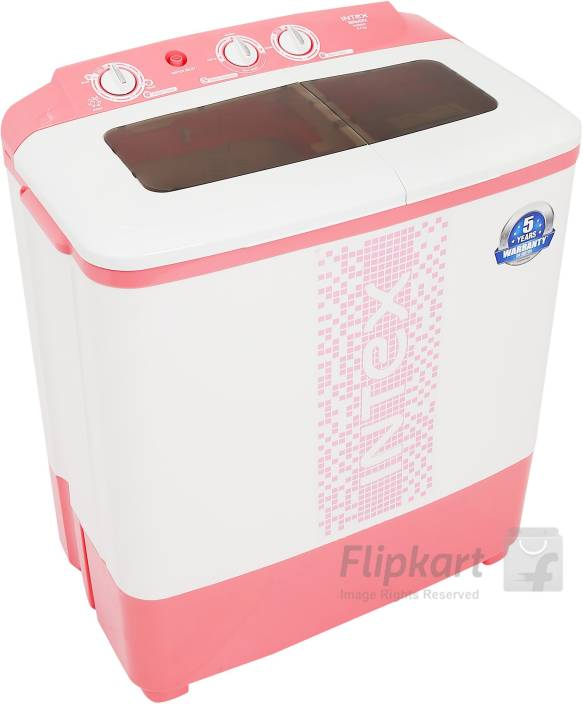 269b5bdf786 Intex 6.5 kg Semi Automatic Top Load Washing Machine Pink Price in ...