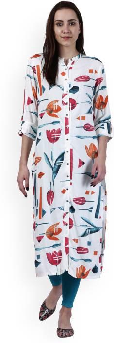 W Floral Print Women's Straight Kurta