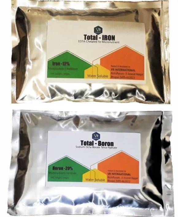 VR INTERNATIONAL Boron And Chelated Iron Micronutrient Fertilizer For  Plants And Indoor Gardening Soil Manure
