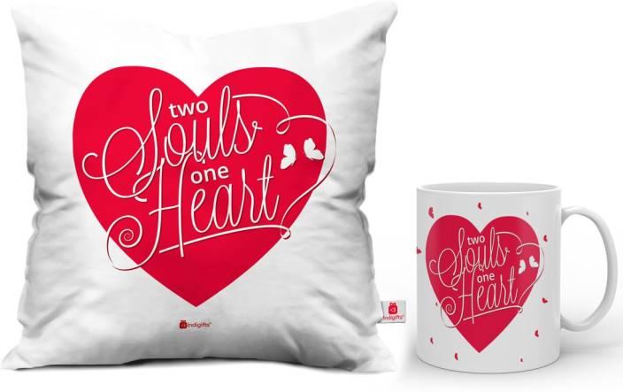 Indigifts Designer (idscomac134) Cushion, Mug Gift Set