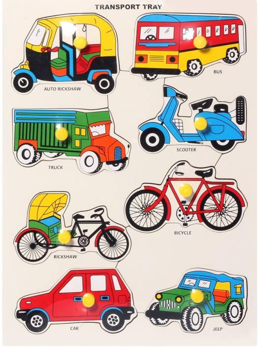Shribossji Wooden Puzzle For Kids Types Of Transport Wooden