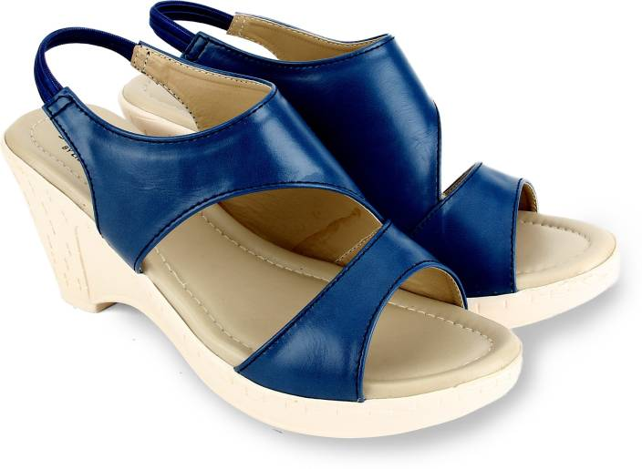 8e5244c42e1 Senorita by Liberty Women BLUE Wedges - Buy BLUE Color Senorita by Liberty  Women BLUE Wedges Online at Best Price - Shop Online for Footwears in India  ...
