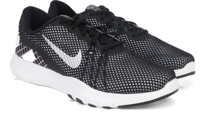 reputable site dee38 d8190 Nike W NIKE FLEX TRAINER 7 PRINT Gym   Training Shoes For Women (Black)