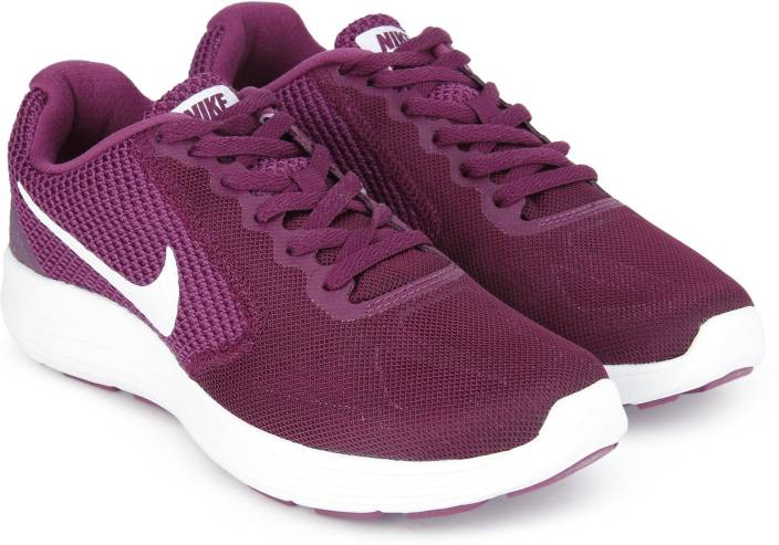 Nike WMNS NIKE REVOLUTION 3 Running Shoes For Women - Buy BORDEAUX ... 2eb398171
